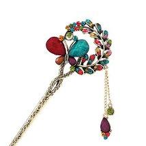 Colorful Butterfly Retro Women Girls Tassel Hair Pin Hair Stick - $12.91