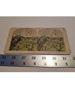 Home Treasure #15 Repulsing An Attack Stereoview Card Military Troops Fi... - $23.74
