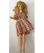 "Ideal Toy Corp. Vintage 1965 Original 12"" TAMMY DOLL T-12 red block dress - $32.71"