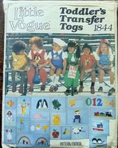 Vintage Little Vogue #1844 Toddler's Transfers Togs Pattern Shirt Jumper... - $5.93