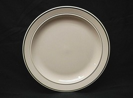 "Basic Living Green by Gibson Designs 10-1/4"" Dinner Plate Green Trim & Verge - $16.82"