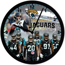 "Jacksonville Jaguars Homemade 8"" NFL Wall Clock w/ Battery Included - $23.97"