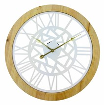 Roman Numeral White Metal Cut Out Wall Clock 45cm - $23.27