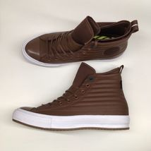 Converse Mens 10 WO 12 CTAS WP Boot Hi Brown Leather Shoes Boots $120 157491C - $65.18