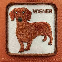 Goorin Bros Snapback Mesh Cap Rust Brown Wiener Dawg Dog Trucker Hat 101-0622 image 6