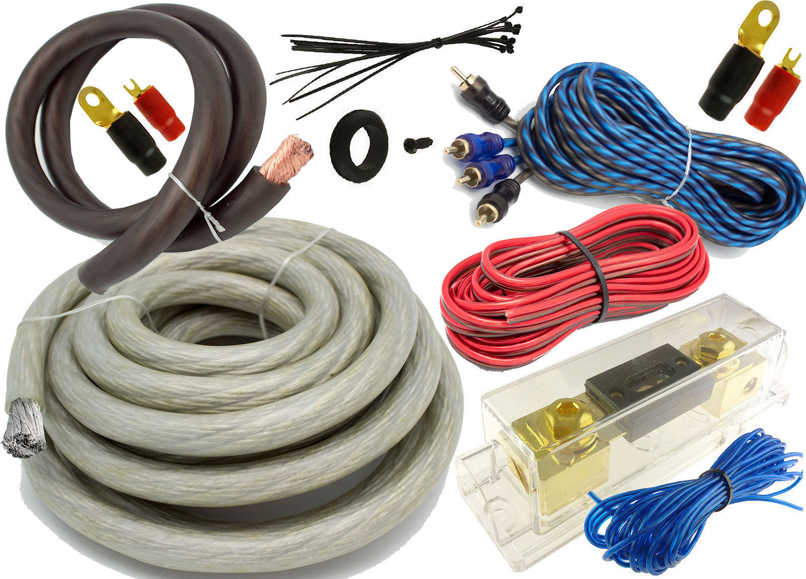 Car Amp Wiring Kit 0 Gauge Solutions Silver 5500 Watt Pro Complete And 12 Similar Items