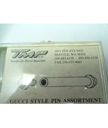 TMP VINTAGE GUCCI BAND PIN ASSORTMENT LOT 6 VIALS FULL FOR VINTAGE BAND ... - $173.19