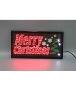 """""""Merry Christmas"""" LED Animated Sign Home Decor Hanging Color Message Dis... - $24.36"""