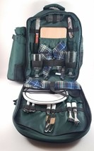 Picnic Backpack For 2 Person Lunch Set w/ Insulated Wine Cooler Camping ... - $534,15 MXN