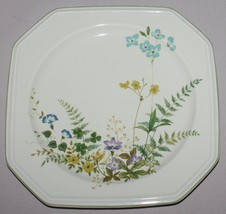 "4 Salad Plates Mikasa Greenery F4003 Continental Ivory Square Floral 8 3/8"" - $16.78"