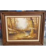 Beautiful Vintage Original Silvana Oil Painting - With COA WOODS Serial ... - $292.04