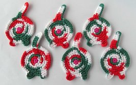 Cat Butt Coasters, Set of 6, Cotton, Christmas Calico - $35.62 CAD