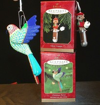 Hallmark Keepsake Ornaments Christmas Parrot & Clever Camper AA-191792D ... - $39.95