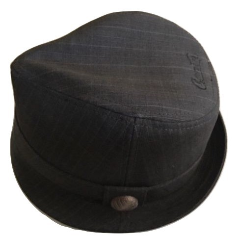 87c9b1e6dd52f GOORIN BROS SMILING IT OUT STRIPS STINGY FEDORA HAT GRAY MEN S -  39.59