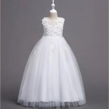Flower Girl Dress Wedding Bridesmaid Birthday Pageant Formal Gown Organz... - $35.95