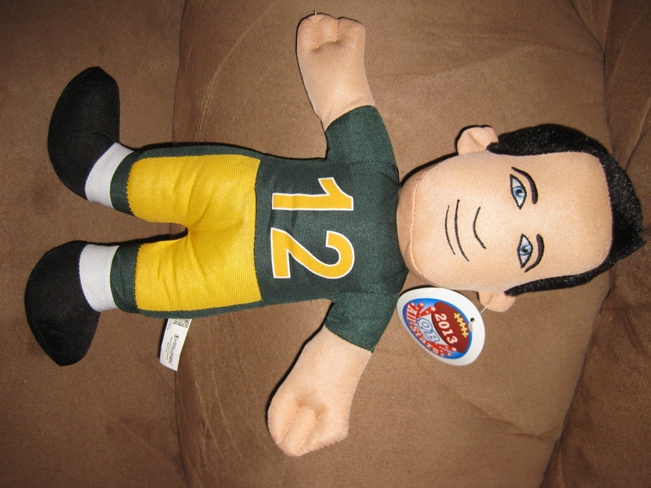 "Primary image for AARON RODGERS QUARTERBACK NFL GREEN BAY PACKERS New Licensed Plush 15"" Sugar Loa"