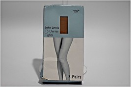 Tights Hosiery John Lewis Set of 3 Pairs of Nude Tights 15 Denier Size M... - €19,98 EUR