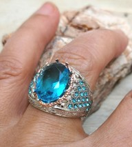 *jinn ring*  witchcraft owned vintage special SOLOMON Symbol of Djinn si... - $54.87