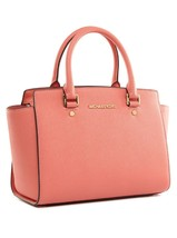 MICHAEL Michael Kors Selma Saffiano Leather Med... - $268.20