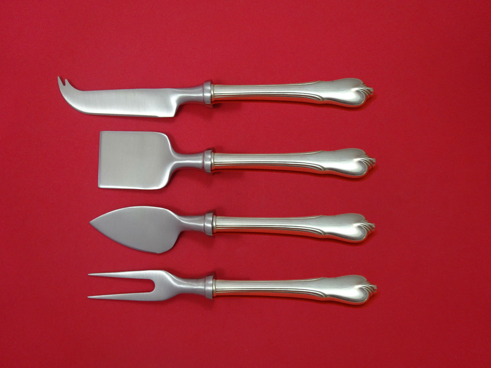 Primary image for Grand Colonial by Wallace Sterling Silver Cheese Serving Set 4pc HHWS Custom