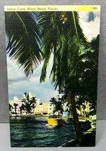 Indian Creek, Miami Beach, Florida Colourpicture Linen Postcard 266 - $8.95