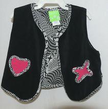 Snopea 3 Piece Outfit Vest Shirt Pants Black White Velour Size 18 Months image 5