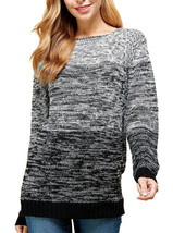 Women's Oversized Long Sleeve Colorful Chunky Knitted Casual Pullover Sweater image 2