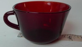 Ruby Red Glass Cup Arcoroc - $8.86