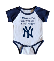 NY Yankees Onesie Jersey New York Shirt Outfit Watching With Grandpa - $19.95+