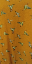 EVRI Womens Top 3X Hummingbirds Orange Short Sleeve Plus Size Gals image 2