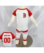 Personalized Boston  Red Sox Baseball Onesie Uniform Jersey - $21.95+