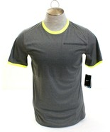 Nike Dri Fit  Gray Graphic & Volt Short Sleeve Running Shirt Men's NWT - $37.49
