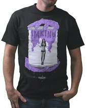 IM KING Mens Black Purple Gotcha Girl in a Bottle Horror T-Shirt USA Made NW image 1