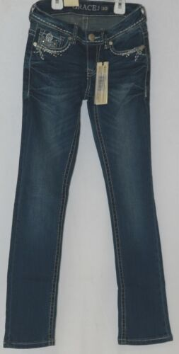 Grace In LA Embellished Pockey Grace Denim Girl Jeans Size 10