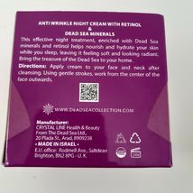 Dead Sea Collection Anti Wrinkle Aging Retinol Night Face Cream 1.69 Oz Beauty image 3