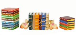DOLLHOUSE MINIATURES CUTE BEAR BOOKENDS SET #G7085A - $10.50