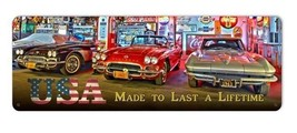 USA Made To Last A Lifetime Chevrolet Steel Sign - $69.95
