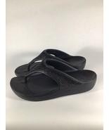 CROCS Sloane 204181 Diamante Sparkle Womens Thong Sandals Black Size 10 - $25.49