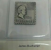 sterling silver James Buchanon  presidential stamp ingot  - $23.20