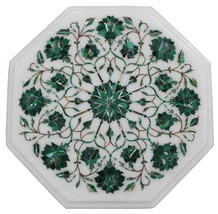"12""x12"" Marble Coffee Side Table Malachite Pietradure Inlay Living Room ... - £417.79 GBP"