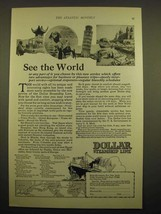 1924 Dollar Steamship Line Ad - See the world - $14.99