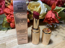 LANCOME L'Absolu Mademoiselle Shine Lipstick 390 PARISIAN KISS BNIB - $21.77