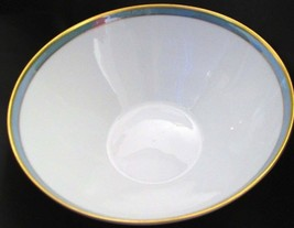 "Rosenthal Gala Blue Vegetable/Pasta Bowl  Gold Trim 7 1/2"" - $34.64"