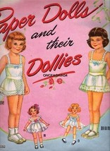 VINTAGE UNCUT 1951 PAPER DOLLS & THEIR DOLLIES PAPER DOLLS~#1 REPRODUCTI... - $18.99