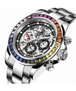 PAGANI DESIGN Sapphire Glass 40MM Ceramic GMT Mechanical Watches 100m Wa... - $134.99