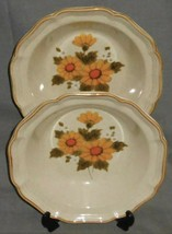 Set (2) 1970s-80s Mikasa SUNNY SIDE PATTERN Vegetable Bowls MADE IN JAPAN - $29.69