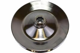 55-72 GM Chevy Power Steering Pump Pulley Steel Key-Way Saginaw Pump. Chrome