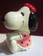 Vintage peanuts belle ceramic bank - $23.70