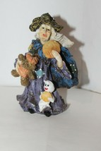 K's Collection Witty Witches - Witch With Bear, Ghost and Cookie - No Box - $9.95