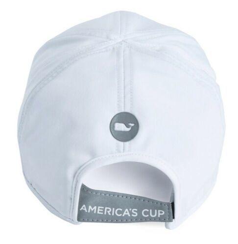 Vineyard Vines Americas Cup Baseball Hat Golf Clean White OSFA Strapback NEW!